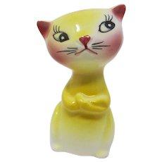1950s Cute Yellow Cat Salt Shaker