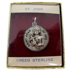 St. Joan of Arc Sterling Silver Religious Medallion