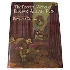 """""""The Poetical Works of Edgar Allan Poe"""" With Color Illustrations by Edmund Dulac"""