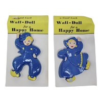 Good Luck Chalkware Wall Dolls For A Happy Home