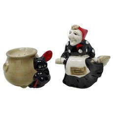 Fitz & Floyd Witch, Cat, and Cauldron Salt & Pepper Shakers