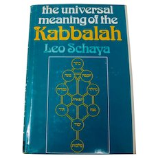 """The Universal Meaning Of The Kabbalah"" HC Book By Leo Schaya"