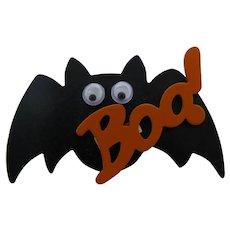 Halloween Googly-Eyed Bat Brooch