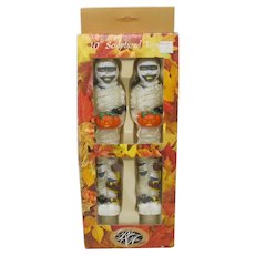 Robert Alan Halloween Mummy Sculpted Taper Candles (Set of 2)