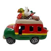 Clay Minibus Souvenir of Costa Rica