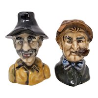 Old Salty Sea Captains Ceramic Salt & Pepper Shakers