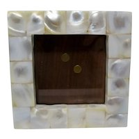 White Mother of Pearl Small Standing Picture Frame