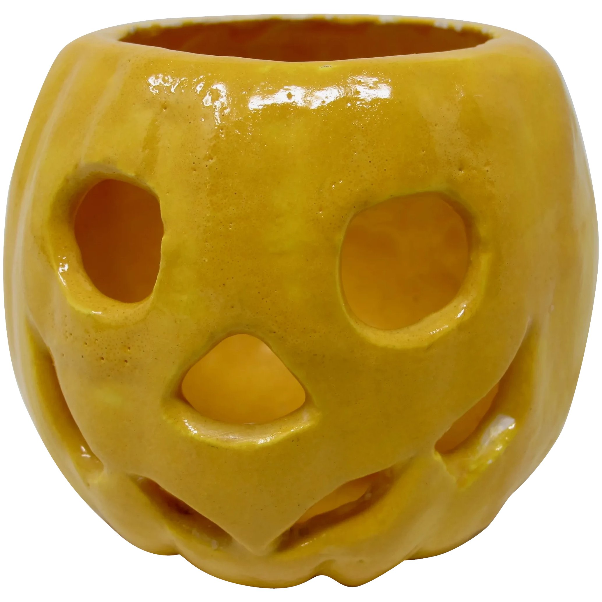 Ceramic Halloween Jack O Lantern Votive Candle Holder Pzbaubles New Orleans Ruby Lane