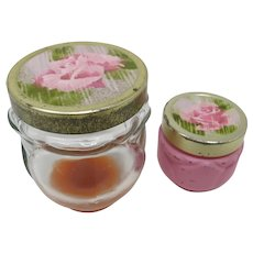 Avon Scent of Roses Cologne & Sachet Jar