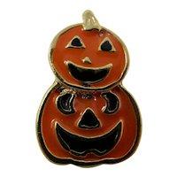 Orange & Black Halloween Jack O'Lantern Tie Tack