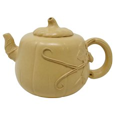 Miniature Ceramic Pumpkin Teapot
