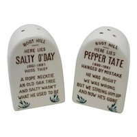 Comical Gravestone Salt & Pepper Shakers