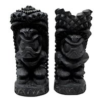 1974 Hawaiian Island Products Lava Tiki Gods of Happiness & Strength