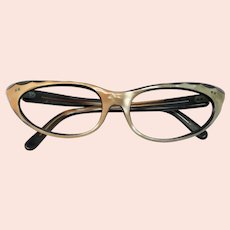 1950s Two-Tone Lucite Cat's Eye Glasses