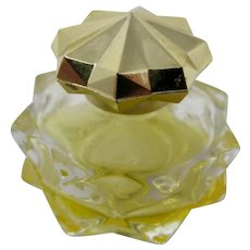 Avon Brocade Tiny Cut Glass Perfume Bottle