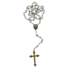 St. Joan of Arc Faux Pearl Rosary