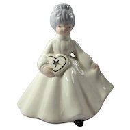 SALE! Vintage Ceramic Eastern Star Lady Figurine