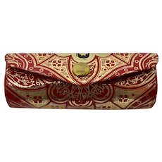 1950s Red & Gold Lipstick Case From Italy