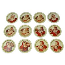 Coca-Cola Santa Claus Christmas Coasters (Set of 12)