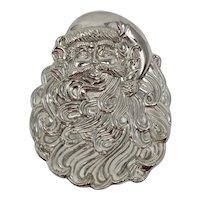 Silver-Plated Santa Claus Christmas Candy Dish