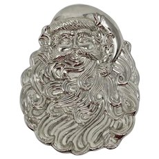 Silver-Plated Santa Claus Christmas Candy Dish