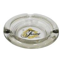 Fairmont Hotels Art Deco Style Glass Ashtray