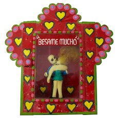 Mexican Day of The Dead Kissing Skeletons Nicho Box