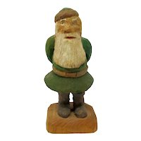 Carved Wooden Leprechaun With Certificate of Authenticity