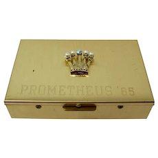 Mardi Gras Krewe of Prometheus Crown Jewelry Box