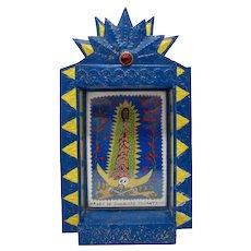 Mexican Virgen de Guadalupe Tonantzin Nicho Box