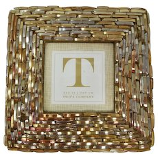 Woven Metallic Glass Standing Picture Frame