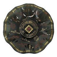 1973 Mardi Gras Queen Nemesis Black Glass Candy Dish