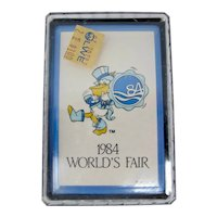 1984 New Orleans World's Fair Seymour D. Fair Playing Cards In Plastic Box