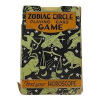 1931 Zodiac Circle Playing Card Game