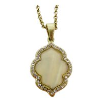 Pearlescent Cream Pendant Necklace
