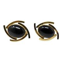 12K Gold-Filled Onyx Cufflinks
