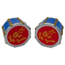 "Vandor ""Love The Beatles"" Drum Salt & Pepper Shakers"