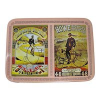 Decorative Bicycle Card Tin With 2 Decks of Playing Cards