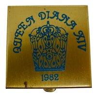 1982 Mardi Gras Krewe of Diana Pill Box