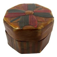 Lacquered Bamboo Pill Box From China