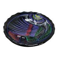 Hand-Painted Ceramic Bird of Paradise Bowl