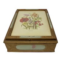 Loudon Florals Carved Wooden Jewelry Box