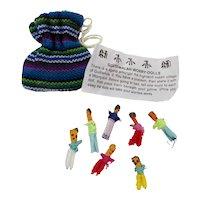 Guatemalan Worry Dolls in Drawstring Bag