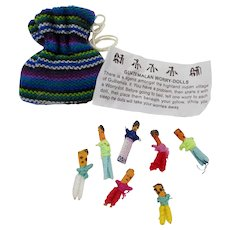 Guatemalan Worry Dolls in Drawstring Bag