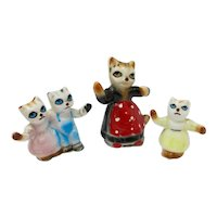 1940s Ceramic Cat Family Figurines (Set of 3)