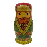Russian Matryoshka Father Nesting Dolls (Set of 4)