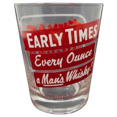 """Early Times Bourbon """"Texas Jigger"""" Highball Glass"""