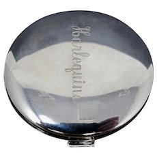 Mardi Gras Krewe of Harlequins Silver-Plated Mirror Compact