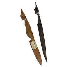 Kenyan Carved Wood Letter Openers (Set of 2)