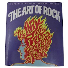 """The Art of Rock"" Miniature Rock Posters Book by Paul Grushkin (1987)"